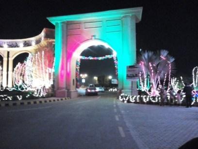 Buch Executive Villas main gate Multan