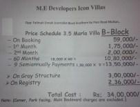 Icon Villas Phase 2 Multan - Price 3.5 Marla House
