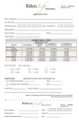 Eden Life Islamabad - Application Form for Residential Plots