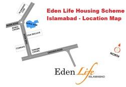 Eden Life Islamabad - Location map