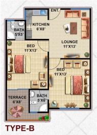 Type B Apartment Layout Plan