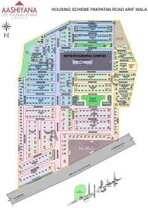 Aashiyana City Housing Scheme Arifwala - Master Plan
