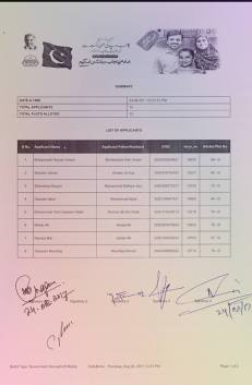 Sheikhupura Housing Colony Balloting Result 24-8-2017 (Govt Employees Quota Category 5 Marla Plots Balloting Results) a