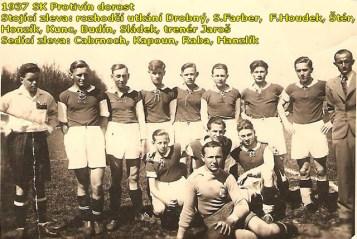 V roce 1937 hrálo v Protivíně i dorostenecké mužstvo