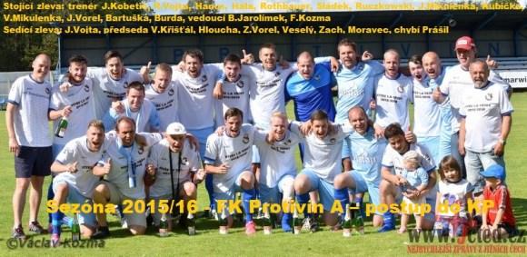 Sezóna 2015/16 FK Protivín A opět postoupil do KP