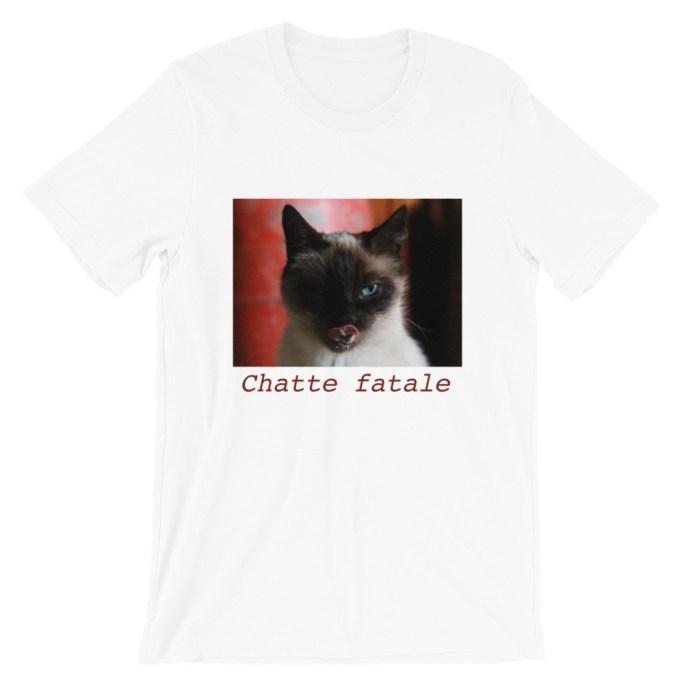 t-shirt chatte fatale
