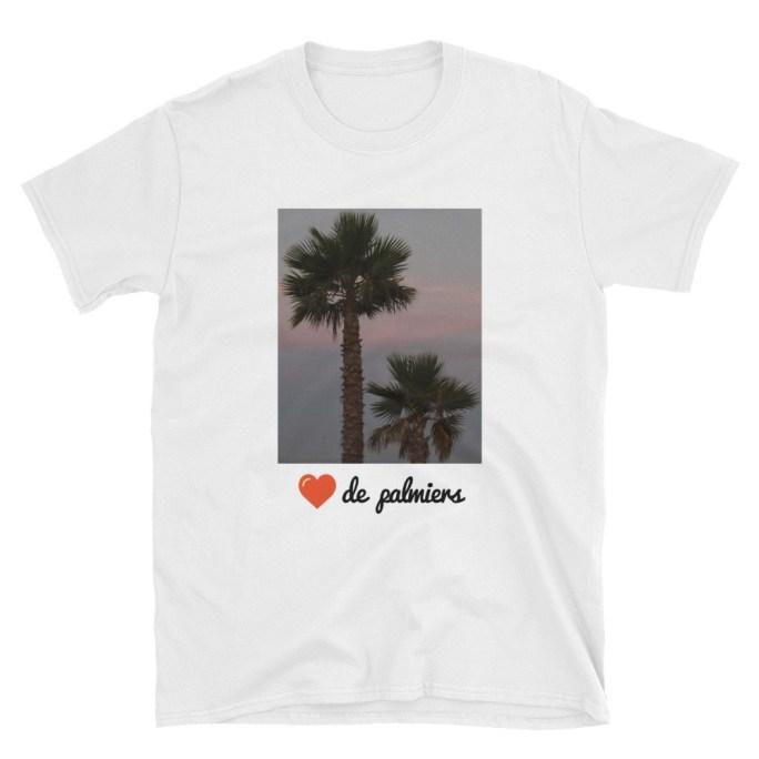 t-shirt cœur de palmiers