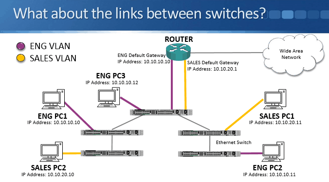 We Had Engineering And S Pcs Connected To A Single Switch The Was Router Which Provided Connectivity Between Departments