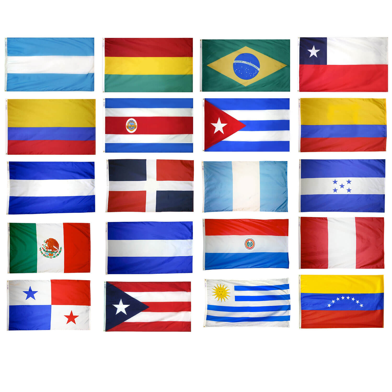 20 latin american countries