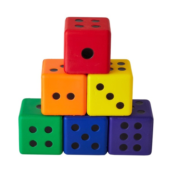 Colored Dice - Set Of 6 Flaghouse