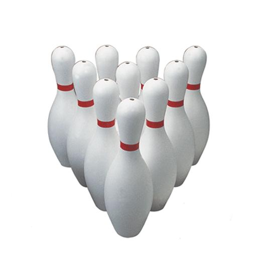 poly bowling pins weighted