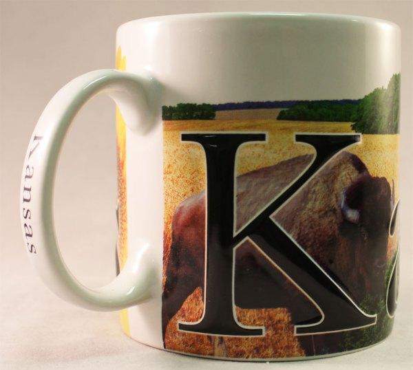 Kansas - 18 Oz. Coffee Mug Flagline