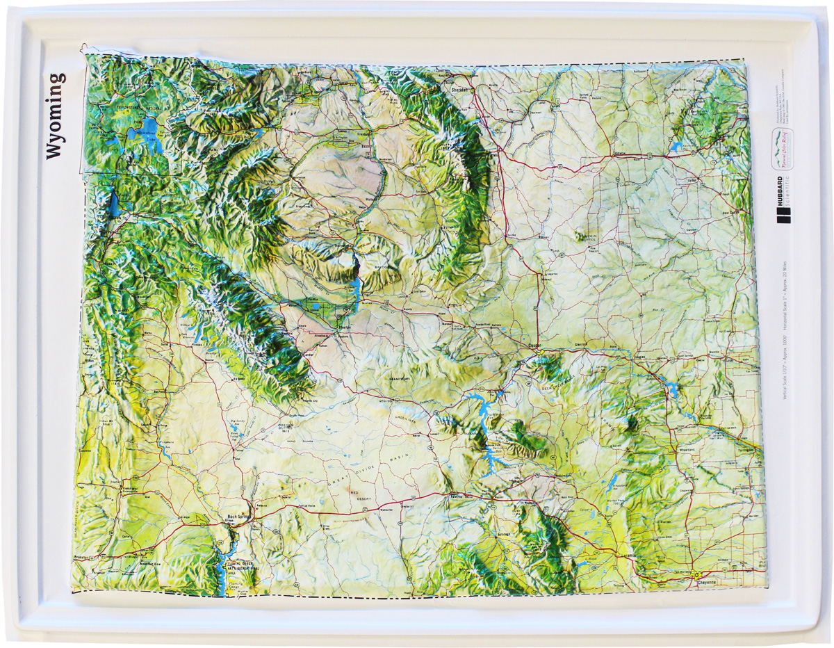 Buy Wyoming Relief Map