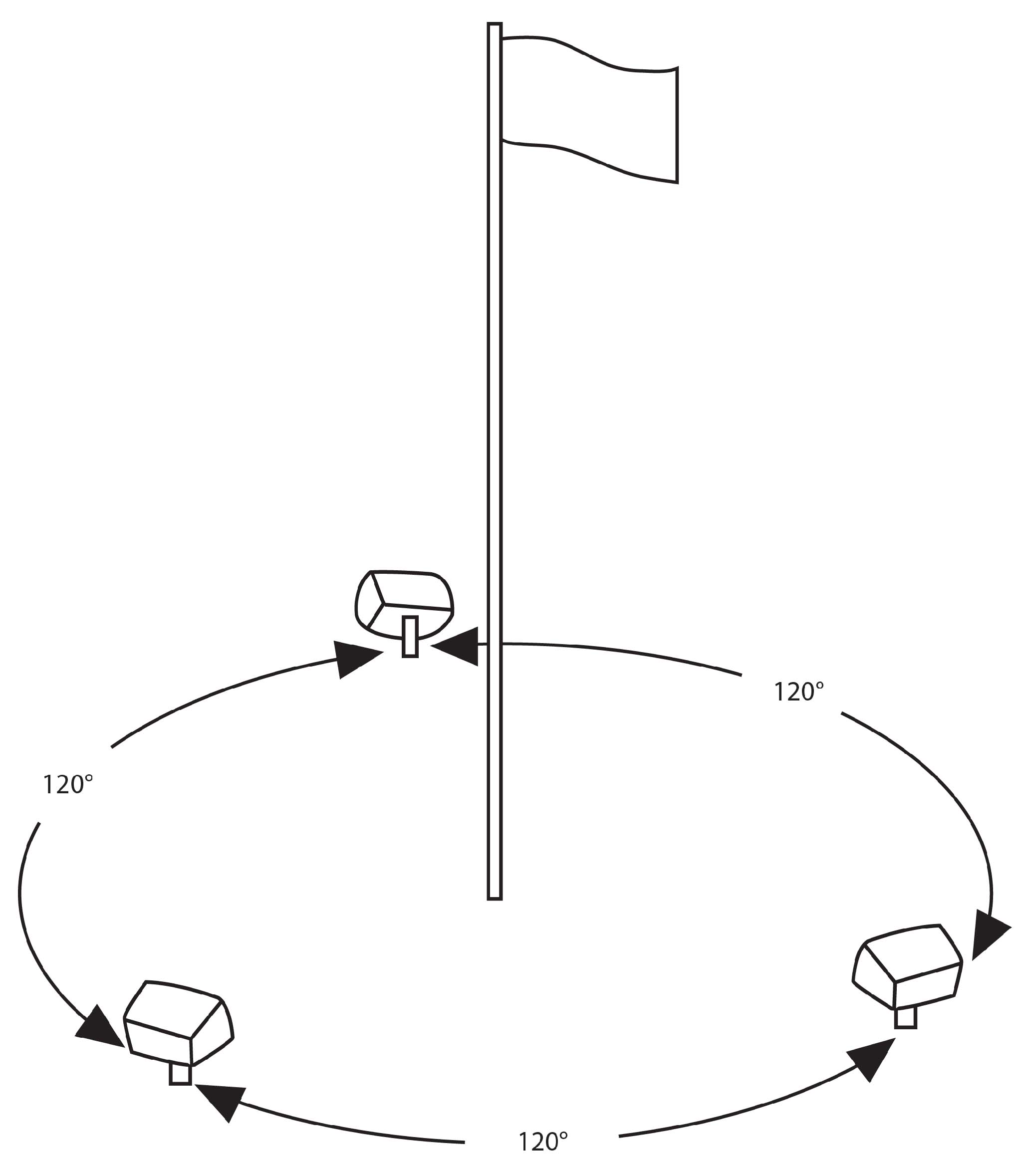 flag pole parts diagram