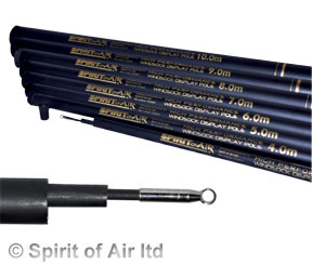5m High Performance Spirit of Air telescopic flag pole