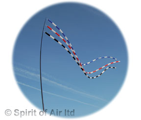 Tube windsock - Blue / white