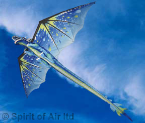 Ice dragon kite blue with 195cm wingspan