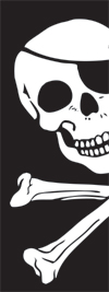 Pirate / skull and cross bones Banner flag 8ft x 3ft