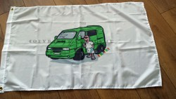 VW T4 camper flag by Camp-toons 3ft x 2ft