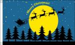 Christmas Moon christmas celebration flag 5x3ft