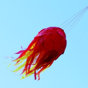 Fireball meteor windsock