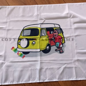 VW Bay window camper flag by Camp-toons 3ft x 2ft