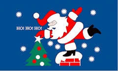 Ho Ho Ho santa christmas flag 5x3ft