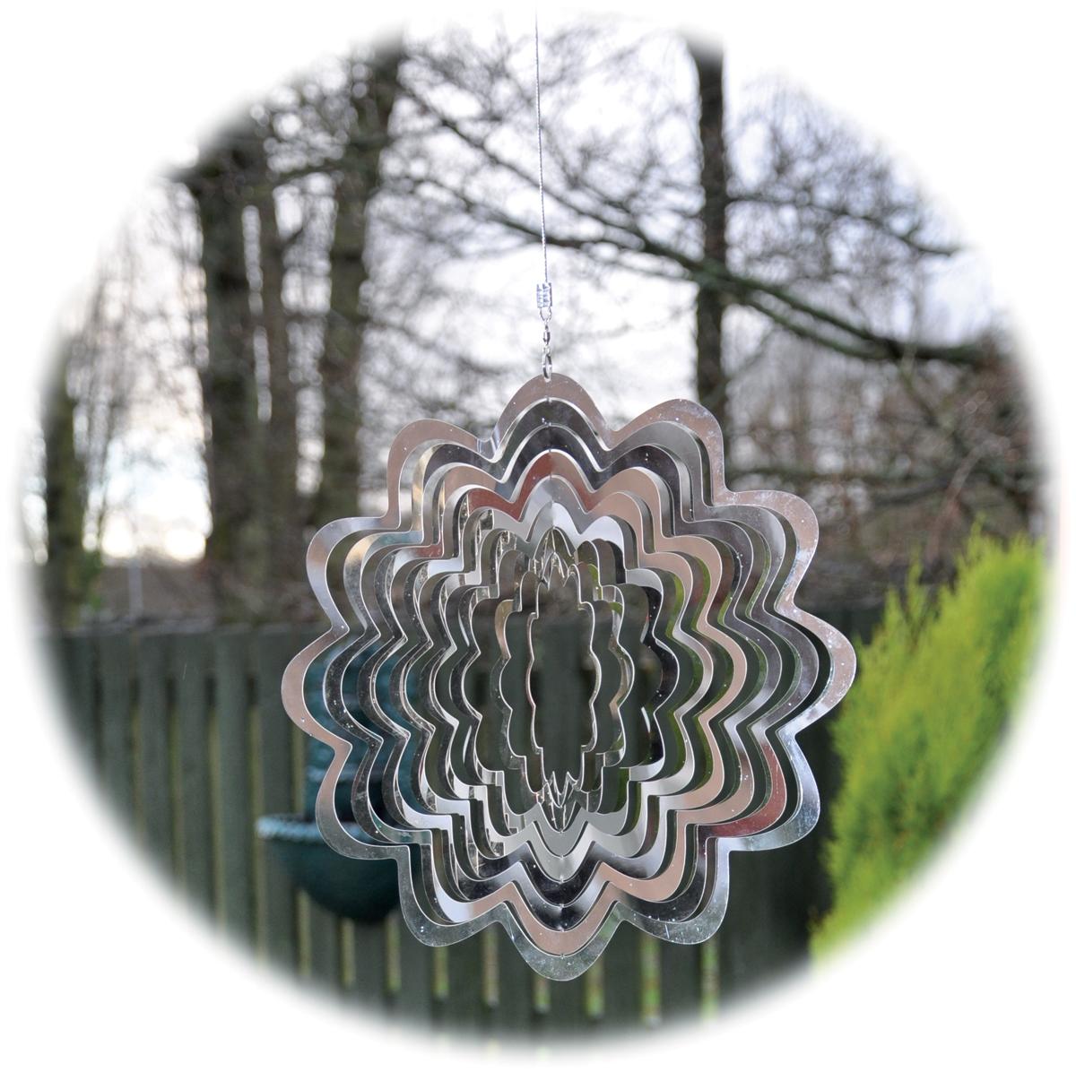 Stainless steel garden windspinner - Flower