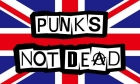 Punks not dead flag 5ft x 3ft