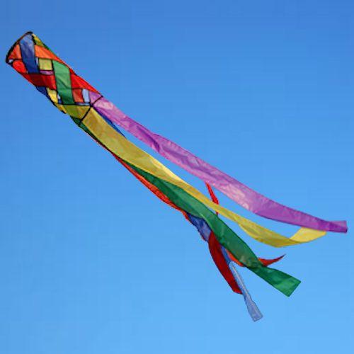 Rainbow Lattice windsock by Spirit of air