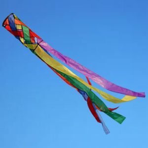 Rainbow Lattice windsock by Spirit of air