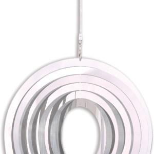 Stainless steel garden windspinner - ROUND
