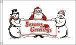 Seasons greetings christmas celebration flag 5x3ft