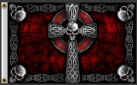 Skull cross gothic goth pirate flag 5x3ft