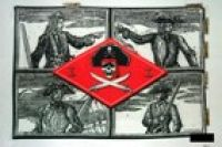Skulls sketch flag 5ft x 3ft