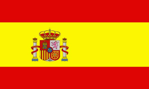 Spain Spanish flag with crest 5ft x 3ft