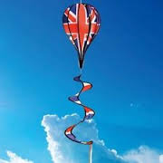 Balloon spinner windsock - union flag style