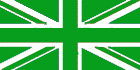Union Jack - Green / White flag 5ft x3ft