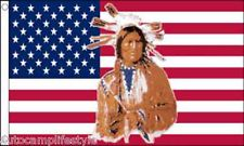 USA indian american flag 5ft x3ft