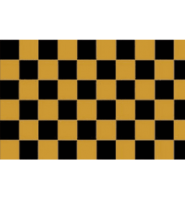Chequered check flag black/gold 5ft x 3ft