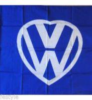 I love my VW heart logo flag – DARK BLUE 3ft x 2ft with eyelets