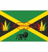 Jamaica Reggae flag 5ft x 3ft with eyelets