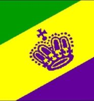 Mardi Gras flag 5ft x 3ft with eyelets