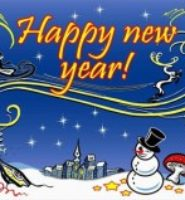 Happy new year with snowman celebration Christmas flag 5ft x 3ft with eyelets