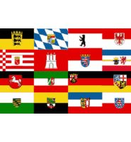 Germany federal states flag 5ft x 3ft