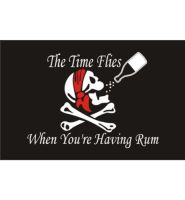 Time flies when you have rum flag 5ft x 3ft