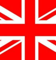 Union jack flag red / white 5ft x 3ft