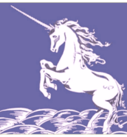 Unicorn flag blue 5ft x 3ft Blue