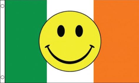 Ireland smiley flag 5ft x 3ft