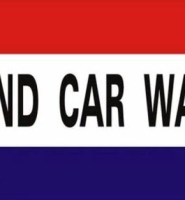 Hand car wash flag 5ft x 3ft with eyelets